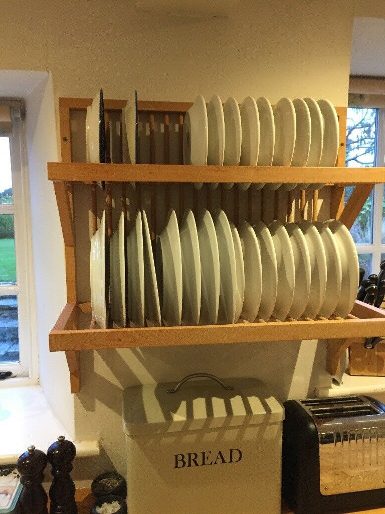 Wooden Plate Rack Beech Good Quality From Habitat