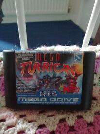 Mega turrican Sega mega drive cart