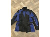 Gents XL Waterproof motorbike jacket in good used condition. Removable winter lining/armour. £30