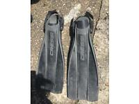 Cressi frog flippers water sports leather solid