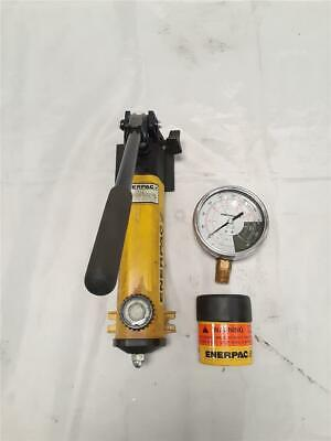 Enerpac P142 Hydraulic Manual Hand Pump 10000 Psi With Many Accessories