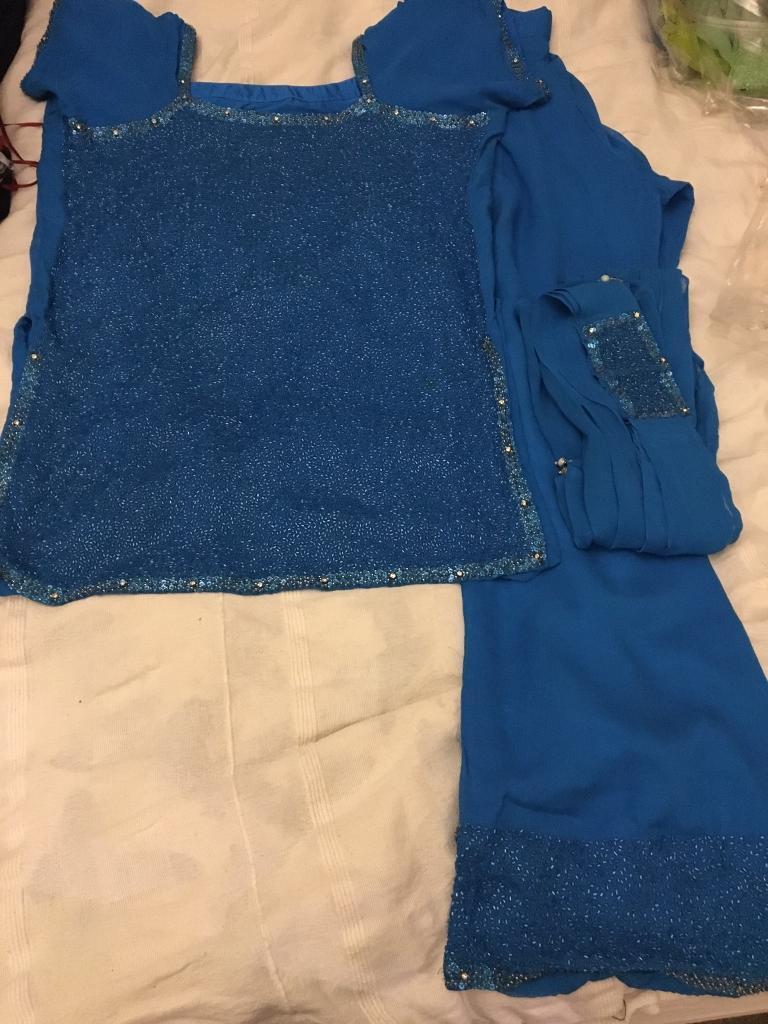 Blue asian suit