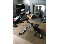 Pro Fitness Recumbent Folding Exercise Bike