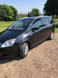 Black vauxhall zafira with leather seats top of the range elite