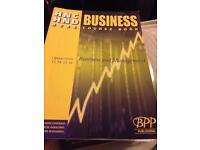 HNC/HND BTEC option unit 13,14, 15, 16 Business and management; business course book