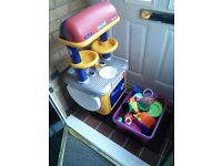 Free kids cooking station with bits
