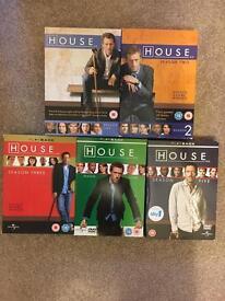 House DVD box sets seasons1-5