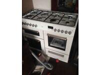 Duel fuel double oven