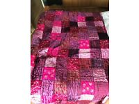Quilted Throw Purple Next