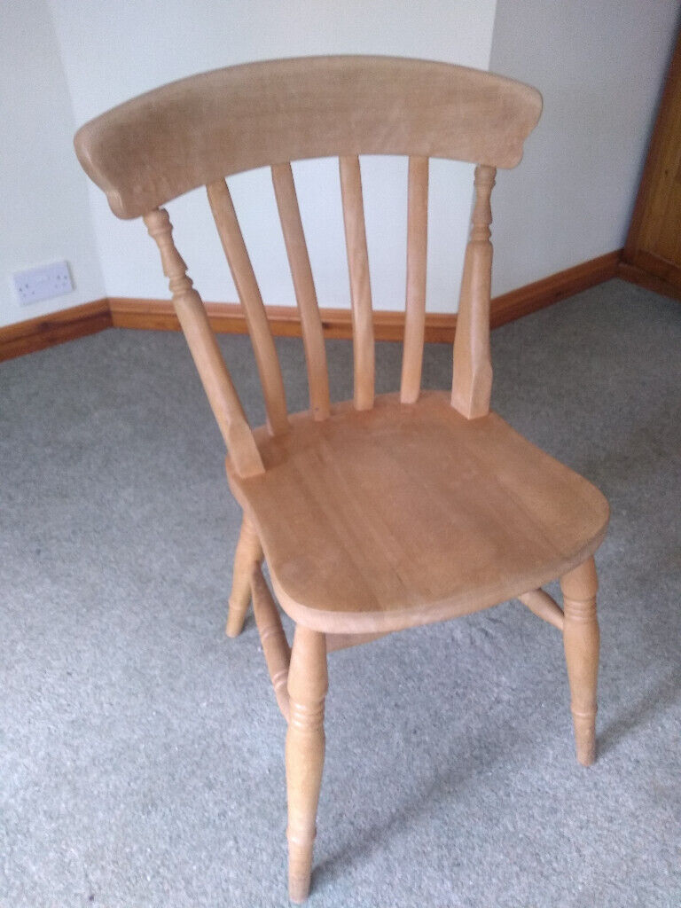 Slatted back pine dining or kitchen chair  in Bournemouth, Dorset  Gumtree