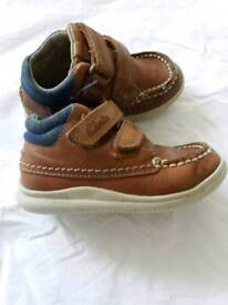 Clarks Boys leather shoes -tan