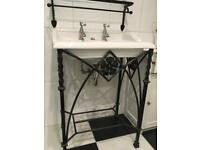 Various traditional bathroom accessories