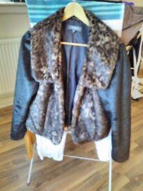 Ladies Faux Fur Jacket size 14