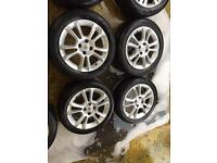"16"" GENUINE VAUXHALL CORSA D ALLOY WHEELS SET OF 4 NO TYRE S"