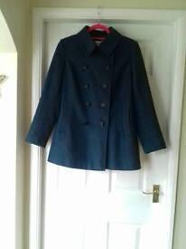 Windsmoor teal wool blend coat/ jacket size 16