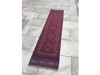 Meshwani runner rug, 245cm x 58cm., In good condition. Great colours , would suit most rooms.