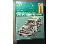 Haynes Manual VW Golf and Scirocco 1974 to 1978 Hardback