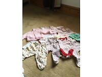 New born/ 1 month clothes bundle, baby girl