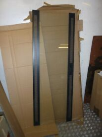"""19"""" Data Rack Glass Door, Black, tempered glass- 2 AVAILABLE"""