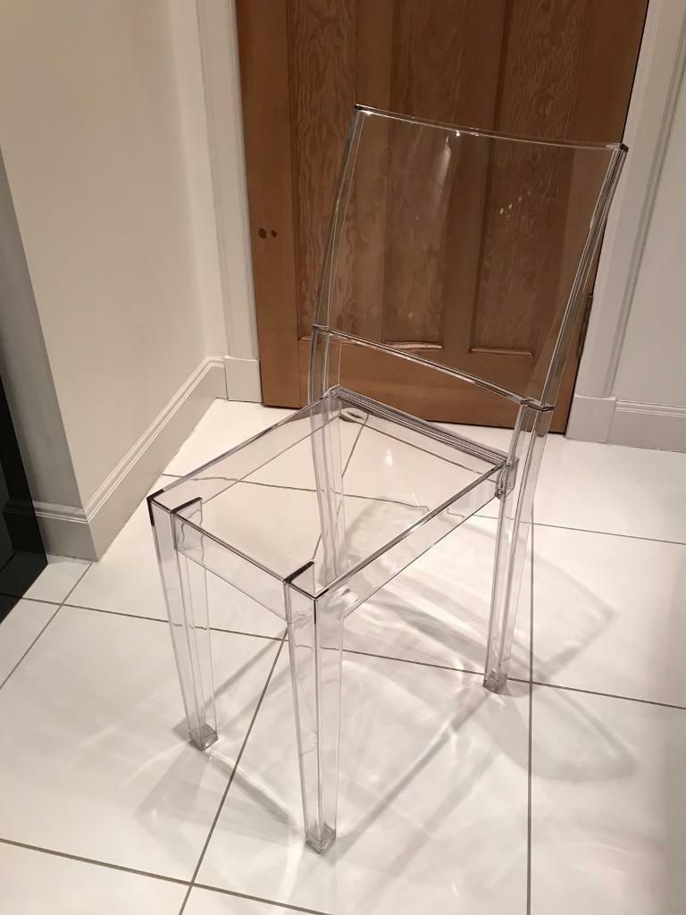 Philippe Starck for Kartell La Marie Ghost chair clear polycarbonate ...
