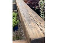 """""""A GRADE"""" 9ft solid Reclaimed heavy Oak beams"""