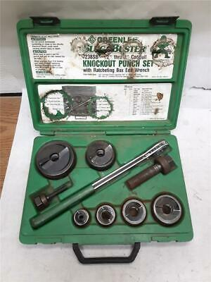 Greenlee 7238sb Knockout Punch Set W Wrench Driver For 12 - 2 Conduit