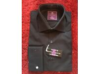 Black Men's Hawes and Curtis Shirt. Brand new. Up to 39cm 15.5in