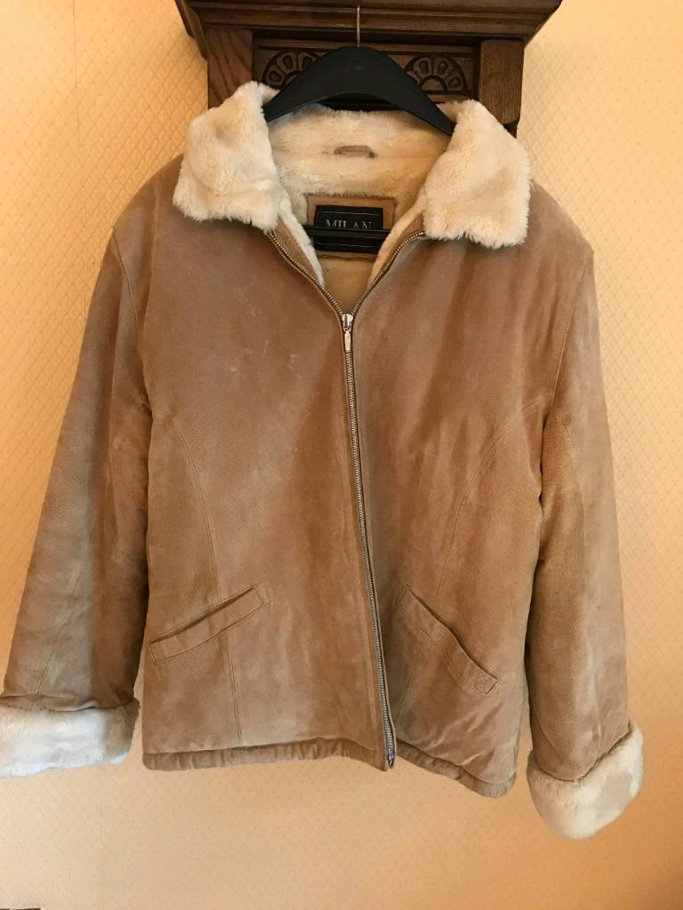 Ladies Suede Fur Lined Bomber Jacket In Sarisbury Green Hampshire