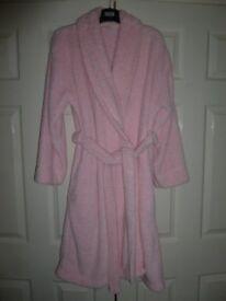 Ladies pink dressing gown