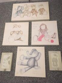 Mamas & papas nursery canvases