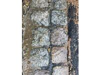 Granite cobble sets 100mm paving , slabs , driveway boarder