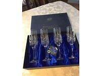 BOHEMIA CRYSTAL - Boxed Set Of 4 Champagne Flutes