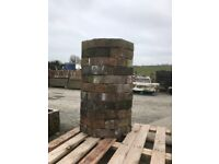 Historic stacked chimney pot garden feature