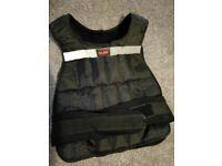 XLR8 weighted vest. Weight training