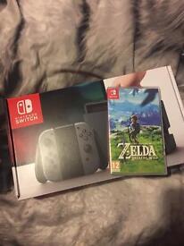 Nintendo switch and Zelda breath of wild