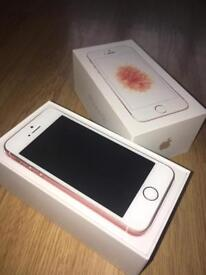 ROSE GOLD IPHONE SE WITH PHONE CASE