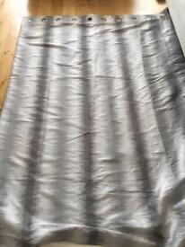 Next Eyelet Silver / Grey Curtains