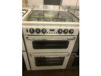 60CM WHTE STOVES DUEL FUEL GAS COOKER