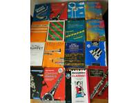 23 music books clarinet flute trumpet