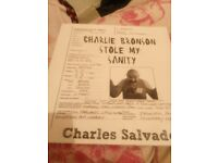 Charles Bronson signed limited edition book