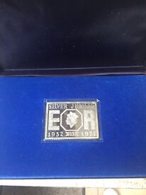 Silver Jubilee ingot and stamps