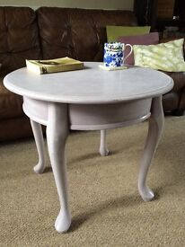 Shabby chic/up cycled coffee/occasional table in Heather