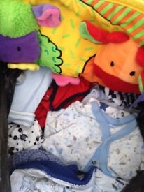 Bundle of Newborn and first size boys clothes