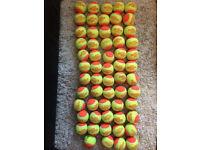 59 pressureless orange tennis balls