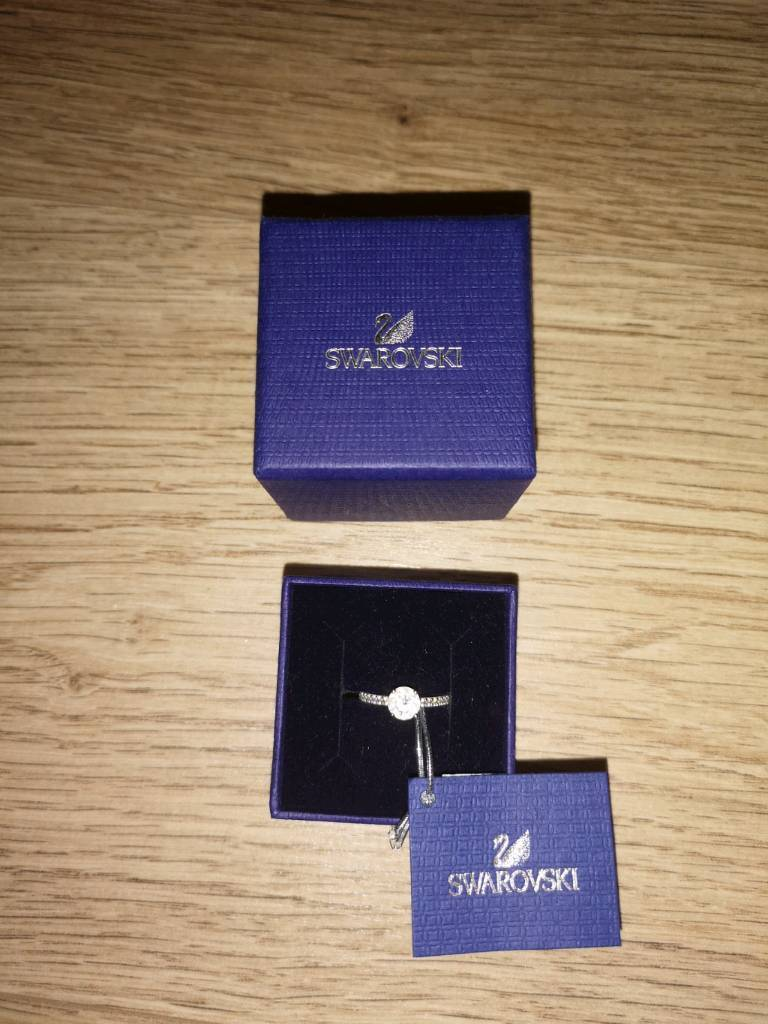 ATTRACT ROUND RING, WHITE, RHODIUM PLATING SIZE 52 (L) | in Airdrie, North  Lanarkshire | Gumtree