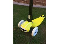 Brand New Boxed Boys and Girls Yellow Scooter For Sale