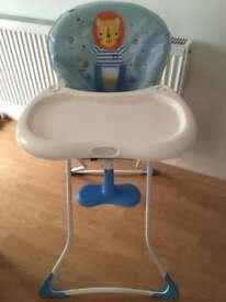 Boys Graco High Chair