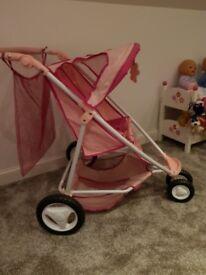 Dolls pram/double buggy (Baby Born)