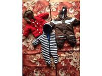 Snowsuit and coat 0-3 month