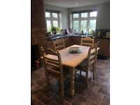Shabby chic dinning table and 4 chairs